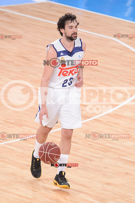 Real Madrid's Sergio Llull during Quarter Finals match of 2017 King's Cup at Fernando Buesa Arena in Vitoria, Spain. February 16, 2017. (ALTERPHOTOS/BorjaB.Hojas) /Nortephoto.com