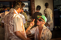 Namotu Island Resort, Namotu, Fiji. (Saturday May 31, 2014) Miguel Pupo (BRA) and Filipe Toledo (BRA) –  The official Opening Ceremony for the 2014 Fiji Pro was held this afternoon on Tavarua Island with a tradition blessing and kava ceremony for the officials and Top 34 surfers. Photo: joliphotos.com