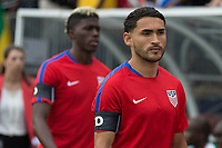 East Hartford, CT - Saturday July 01, 2017: Cristian Roldan during an international friendly game between the men's national teams of the United States (USA) and Ghana (GHA) at Pratt & Whitney Stadium.