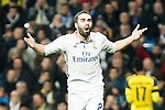 Real Madrid's Daniel Carvajal  during Champions League match between Real Madrid and Borussia Dortmund  at Santiago Bernabeu Stadium in Madrid , Spain. December 07, 2016. (ALTERPHOTOS/Rodrigo Jimenez)