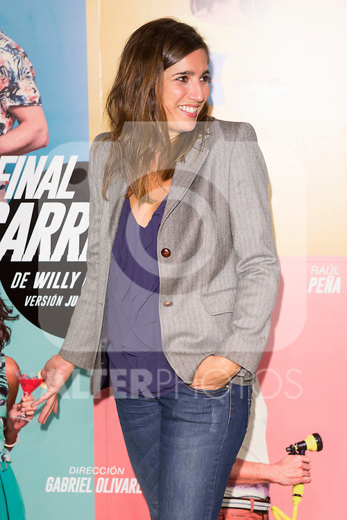 "Lucia Jimenez attends the Premiere of the Theater Play ""Al Final de la carretera"" at Fenan Gomez Theatre in Madrid, Spain. October 7, 2014. (ALTERPHOTOS/Carlos Dafonte)"