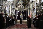 Israel, Jerusalem, the Custos of the Holy Land Fr. Pierbattista Pizzaballa ofm at the Armenian Orthodox St. James Cathedral on Holy Thursday