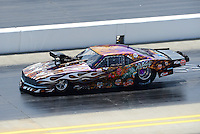 Apr. 14, 2012; Concord, NC, USA: NHRA pro mod driver Mike Knowles during qualifying for the Four Wide Nationals at zMax Dragway. Mandatory Credit: Mark J. Rebilas-