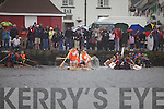 Despite the weather a large crowd came out to watch the Valentia Island raft race held on Saturday last at Knightstown Harbour.