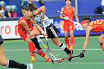 The Hague, Netherlands, June 10: Rosario Luchetti #4 of Argentina in action during the field hockey group match (Women - Group B) between Argentina and China on June 10, 2014 during the World Cup 2014 at GreenFields Stadium in The Hague, Netherlands. Final score 1-1 (yy-yy) (Photo by Dirk Markgraf / www.265-images.com) *** Local caption ***