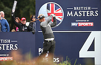 Soren Kjeldsen (DEN) in action during the Final Round of the British Masters 2015 supported by SkySports played on the Marquess Course at Woburn Golf Club, Little Brickhill, Milton Keynes, England.  11/10/2015. Picture: Golffile | David Lloyd<br /> <br /> All photos usage must carry mandatory copyright credit (© Golffile | David Lloyd)