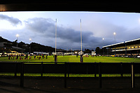 A general view of Morganstone Brewery Field prior to the Guinness Pro14 match between the Ospreys and Connacht Rugby at Morganstone Brewery Field in Bridgend, Wales, UK. Friday 26 October 2018