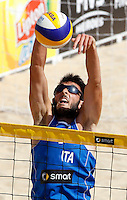Italy's Paolo Nicolai in action during the match between Italy and Austria at Beach Volleyball World Tour Grand Slam, Foro Italico, Rome, 21 June 2013.<br /> UPDATE IMAGES PRESS/Isabella Bonotto