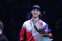 SHORT TRACK: ROTTERDAM: Ahoy, 12-03-2017, KPN ISU World Short Track Championships 2017, Podium Overall Classification Men, Samuel Girard (CAN), ©photo Martin de Jong