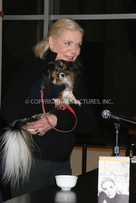 """06 December 2006 - New York, NY - Lauren Bacall  signs copies of her new book"""" By Myself and then some"""" at Barnes and Noble."""
