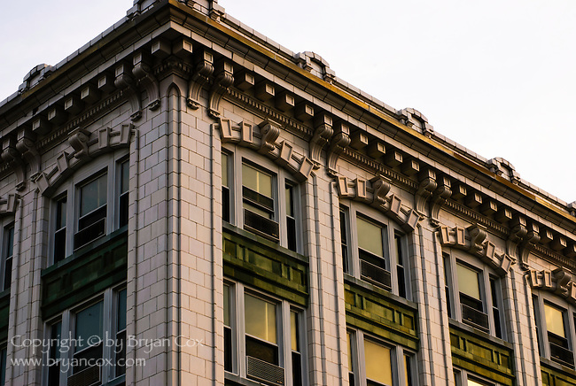 Detail of the Ben Hur building, Crawfordsville, Indiana