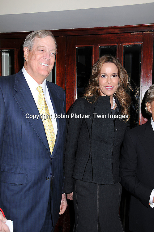 "David Koch, Julia Koch.at The Literacy Partners Kick off for it's annual ""An Evening of Readings"" May Gala  at Lincoln Center. This event was on March 10, 2008 and the Gala will be on May 12, 2008. .Julia and David Koch will be honored. ..Robin Platzer, Twin Images."