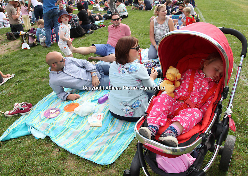 2016 09 18<br /> Pictured: Picnic-goers at The Great Pyjama Picnic, Bute Park, Cardiff. Sunday 18 September 2016<br /> Re: Roald Dahl&rsquo;s City of the Unexpected has transformed Cardiff City Centre into a landmark celebration of Wales&rsquo; foremost storyteller, Roald Dahl, in the year which celebrates his centenary.