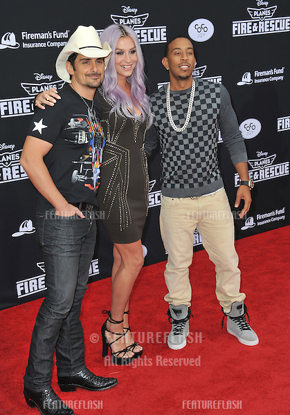 Brad Paisley, Kesha &amp; Chris &quot;Ludacris&quot; Bridges at the world premiere of Disney's &quot;Planes: Fire &amp; Rescue&quot; at the El Capitan Theatre, Hollywood.<br /> July 15, 2014  Los Angeles, CA<br /> Picture: Paul Smith / Featureflash