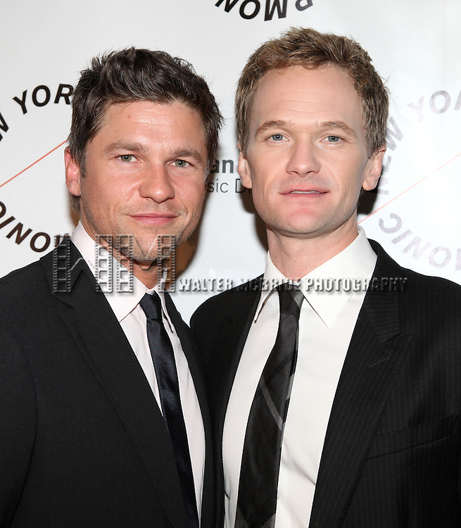 David Burtka & Neil Patrick Harris.attending the Opening Night Party for the New York Philharmonic presentation of Stephen Sondheim's 'Company', A Spring Gala Benefit  in New York City.