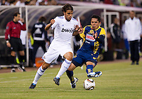 Pedro Leon battles for the ball. Real Madrid defeated Club America 3-2 at Candlestick Park in San Francisco, California on August 4th, 2010.