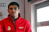 Real Madrid player Iker Casillas participates and receives new Audi during the presentation of Real Madrid's new cars made by Audi at the Jarama racetrack on November 8, 2012 in Madrid, Spain.(ALTERPHOTOS/Harry S. Stamper) .<br />