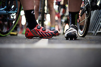 racing shoes with teeth/cleats<br /> <br /> UCI Cyclocross World Cup Heusden-Zolder 2015