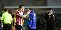 Lincoln City's Lee Frecklington applauds the fans at the final whistle<br /> <br /> Photographer Chris Vaughan/CameraSport<br /> <br /> The EFL Sky Bet League Two - Lincoln City v Newport County - Saturday 22nd December 201 - Sincil Bank - Lincoln<br /> <br /> World Copyright © 2018 CameraSport. All rights reserved. 43 Linden Ave. Countesthorpe. Leicester. England. LE8 5PG - Tel: +44 (0) 116 277 4147 - admin@camerasport.com - www.camerasport.com
