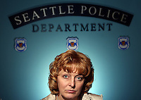 Seattle Police Headquarters -- Seattle Police Detective Pamela St. John works in the Elder/Vulnerable Adult Abuse unit.