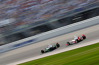11 September, 2005, Joliet,IL,USA<br /> Tony Kanaan leads Sam Hornish,Jr.<br /> Copyright&copy;F.Peirce Williams 2005