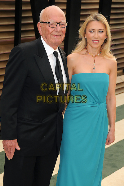 02 March 2014 - West Hollywood, California - Rupert Murdoch &amp; guest. 2014 Vanity Fair Oscar Party following the 86th Academy Awards held at Sunset Plaza.  <br /> CAP/ADM/BP<br /> &copy;Byron Purvis/AdMedia/Capital Pictures
