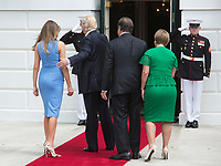 U.S. President Donald J. Trump and First Lady Melania Trump welcome President Juan Carlos Varela and his wife Lorena Castillo Garc&Igrave;a de Varela of Panama to The White House in Washington, DC, June 19, 2017. Credit: Chris Kleponis / CNP<br /> Credit: Chris Kleponis / CNP /MediaPunch