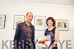 Artist Justina Gruzdyte and her partner musician Clifton Moore pictured at her highly successful exhibition held in the Kenmare Carnegie Arts Centre last Friday.