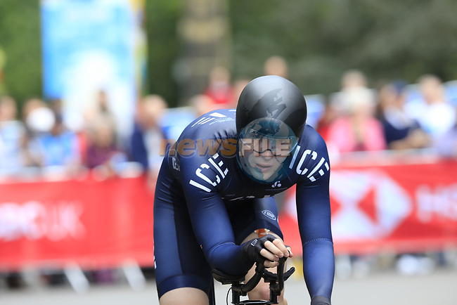 Runar Orn Agustsson (ICE) in action during the Men Elite Individual Time Trial of the UCI World Championships 2019 running 54km from Northallerton to Harrogate, England. 25th September 2019.<br /> Picture: Eoin Clarke   Cyclefile<br /> <br /> All photos usage must carry mandatory copyright credit (© Cyclefile   Eoin Clarke)