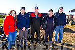 Veronica Heaslip (Tralee), Shane Godley (Ballymac), Tony Wharton (Killarney ploughing Ass), Mike Brosnan (Castleisland) and James Collins (Ardfert) attending the Ardfert Ploughing Championship on Sunday.