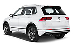 Car pictures of rear three quarter view of a 2019 Volkswagen Tiguan Highline 5 Door SUV angular rear