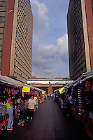 Open-air market in front of Plaza Caracas in downtown Caracas, Venezuela
