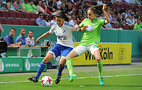 20170527 - KOELN , GERMANY : Wolfsburg's Tessa Wullaert (R) and Sand's Jovana Damnjanovic (L) pictured during the final of German Women's Cup 2017 - Pokal Final Frauen , a soccer women game between SC Sand and holders VfL Wolfsburg  , at the Rhein Energie Stadion , saturday 27 th Mayl 2017 . PHOTO SPORTPIX.BE | DIRK VUYLSTEKE