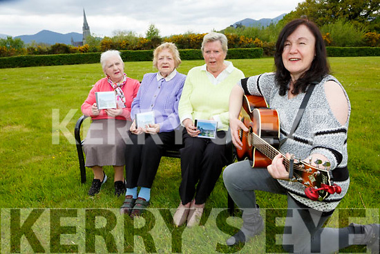 Philimena O'Connor and Bridie O'Riordan, Catherine Crowe, Eileen Moran sing a song at the launching of the Cluid house residents new CD Cluid singers on Tuesday