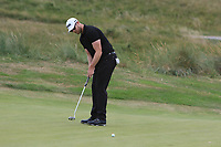 Peter O'Keeffe (Douglas) on the 6th green during the 1/4 Finals of the AIG Irish Close Championship at the European Club, Brittas Bay, Wicklow, Ireland on Monday 6th August 2018.<br /> Picture: Thos Caffrey / Golffile<br /> <br /> All photo usage must carry mandatory copyright credit (&copy; Golffile | Thos Caffrey)