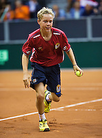 September 14, 2014, Netherlands, Amsterdam, Ziggo Dome, Davis Cup Netherlands-Croatia, Ballboy, Amadatis Admiraal<br /> Photo: Tennisimages/Henk Koster