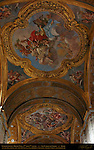 Ceiling Fresco detail 2nd and 3rd vaults Right Nave San Carlo al Corso Rome