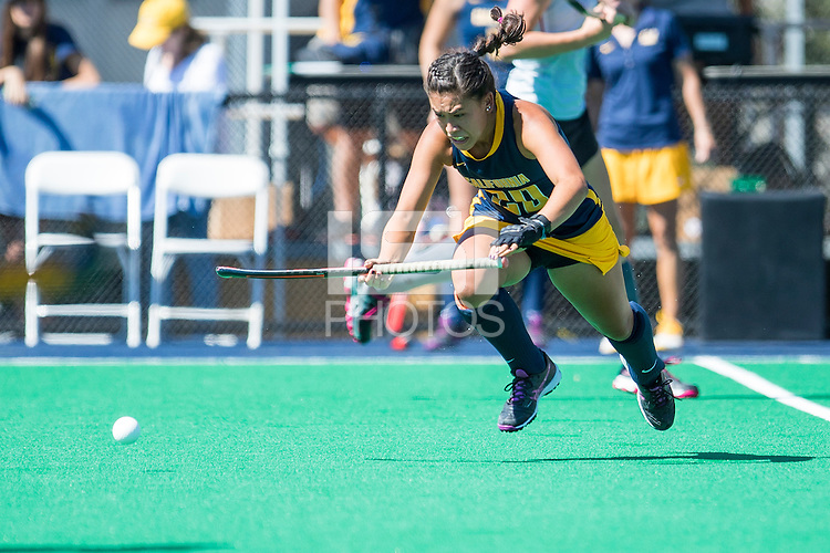 Berkeley, CA - Sunday August 28, 2016 The Cal Bears Field Hockey Team vs the Northeastern Huskies at the Underhill Field in Berkeley California. Final Score, Cal Bears 2, Northwestern Wildcats 3.