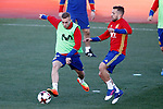 Spain's Gerard Deulofeu (l) and Jordi Alba during training session. March 20,2017.(ALTERPHOTOS/Acero)