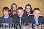 FASHION: Taking part in the Ballymac youth club fashion show in aid of the Ballymac Community Alert Group in St Brendan's community hall on Friday l-r: Patrick Dowling, Mairead O'Connor, Cormac Lynch, Ciara Crowley and Scott O'Brien.
