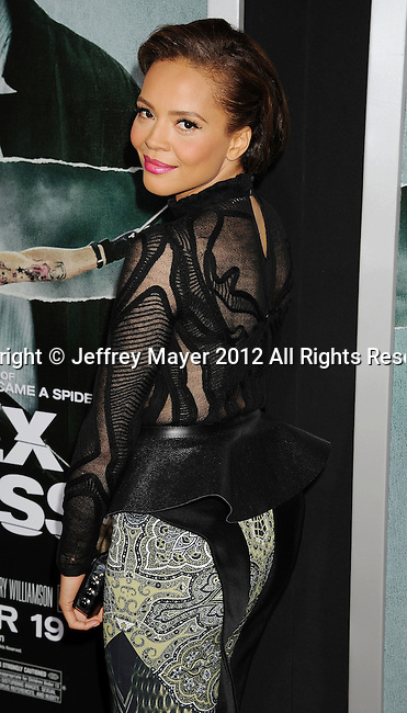 HOLLYWOOD, CA - OCTOBER 15: Carmen Ejogo arrives at the Los Angeles premiere of 'Alex Cross' at the ArcLight Cinemas Cinerama Dome on October 15, 2012 in Hollywood, California.