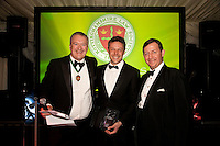 Junior Lawyer of the Year Ben Gat of Freeth Cartwright is pictured centre with President Austin Moore (left) and William Harbage of sponsors 36 Bedford Row
