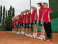 August 17, 2014, Netherlands, Raalte, TV Ramele, Tennis, National Championships, NRTK, Final :  Ballkids<br /> Photo: Tennisimages/Henk Koster