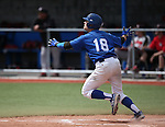 Western Nevada College Wildcats's Joey Krunkilton watches his hit leave the park in a college baseball game against Colorado Northwestern at John L. Harvey Field in Carson City, Nev., on Friday, April 11, 2014. <br /> Photo by Cathleen Allison/Nevada Photo Source