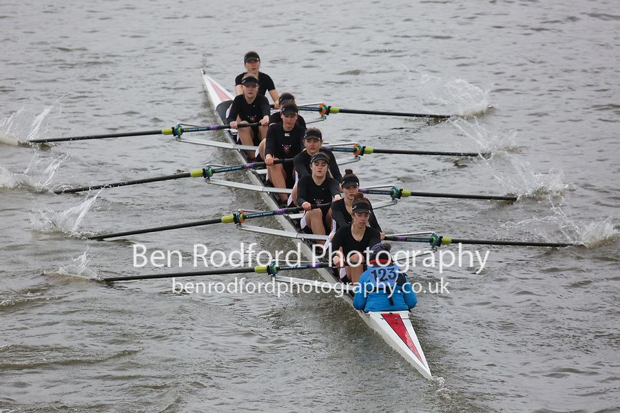 Crew: 123   Lady Eleanor Holles Boat Club   Championship Girls Eights<br /> <br /> Schools' Head of the River 2018<br /> <br /> To purchase this photo, or to see pricing information for Prints and Downloads, click the blue 'Add to Cart' button at the top-right of the page.