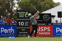 David Bransdon (VIC) in action on the 10th during Round 1 of the ISPS Handa World Super 6 Perth at Lake Karrinyup Country Club on the Thursday 8th February 2018.<br /> Picture:  Thos Caffrey / www.golffile.ie<br /> <br /> All photo usage must carry mandatory copyright credit (&copy; Golffile | Thos Caffrey)