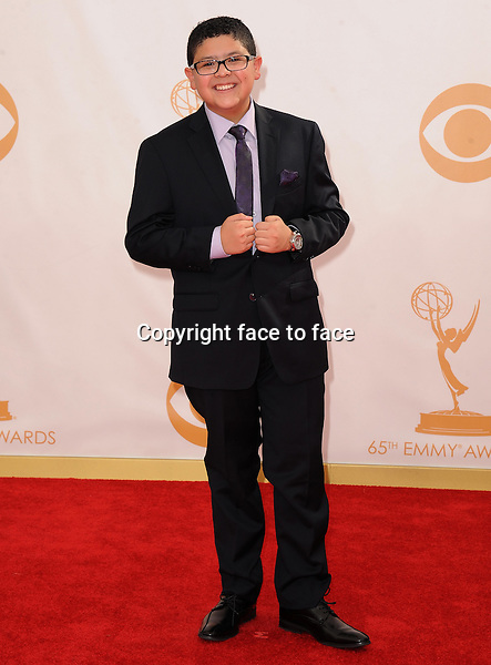 Rico Rodriguez arrives at the 65th Primetime Emmy Awards at Nokia Theatre on Sunday Sept. 22, 2013, in Los Angeles.<br /> Credit: MediaPunch/face to face<br /> - Germany, Austria, Switzerland, Eastern Europe, Australia, UK, USA, Taiwan, Singapore, China, Malaysia, Thailand, Sweden, Estonia, Latvia and Lithuania rights only -