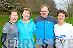 Denise Fogarty, Nora Holland, David Enright and Aileen O'Brien Killarney who competed in the Gneeveguilla AC third leg of the Winter Road race series in Killarney National Park on Saturday......