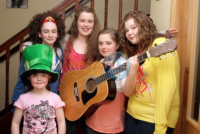 Roisín Maguire, Niamh Byrne, Dara Durrigan, Rosa Durrigan and Aoife Gallagher at the Dunleer Variety Performance Fundraiser for Haiti Victims...Photo NEWSFILE/Jenny Matthews.(Photo credit should read Jenny Matthews/NEWSFILE)....This Picture has been sent you under the condtions enclosed by:.Newsfile Ltd..The Studio,.Millmount Abbey,.Drogheda,.Co Meath..Ireland..Tel: +353(0)41-9871240.Fax: +353(0)41-9871260.GSM: +353(0)86-2500958.email: pictures@newsfile.ie.www.newsfile.ie.FTP: 193.120.102.198.
