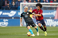 Aridane (defender; CA Osasuna) during the Spanish football of La Liga 123, match between CA Osasuna and CD Lugo at the Sadar stadium, in Pamplona (Navarra), Spain, on Sanday, December 2, 2018.
